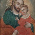 San José y Niño Jesús - Atribuido a Hermenegildo Bustos