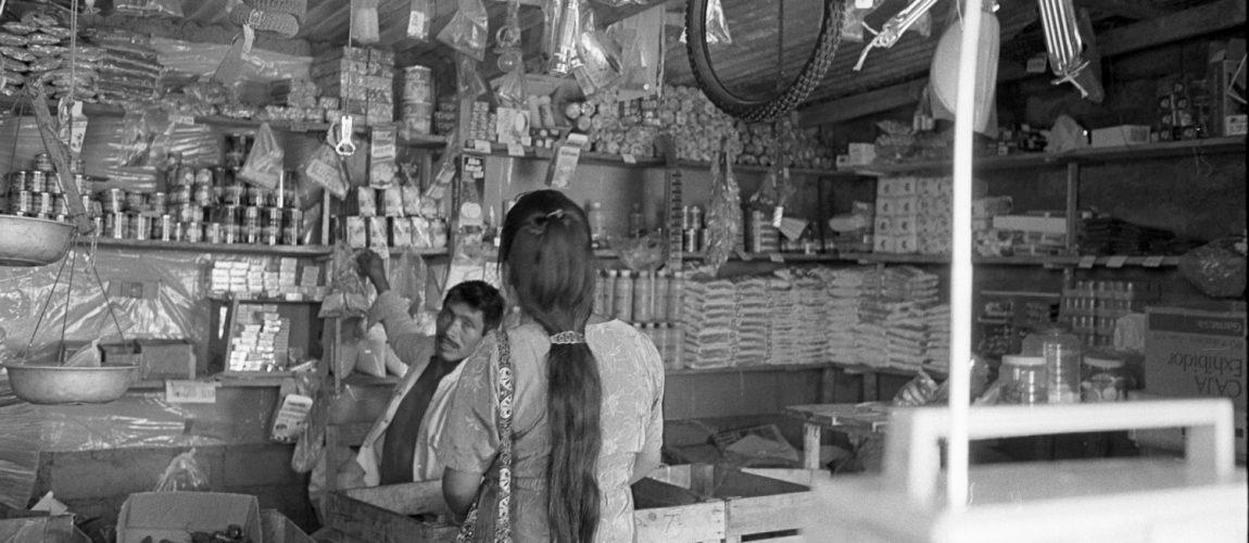La tienda de abarrotes y ferreteria Nueva Libertad. Nueva Libertad (El Colorado)1992