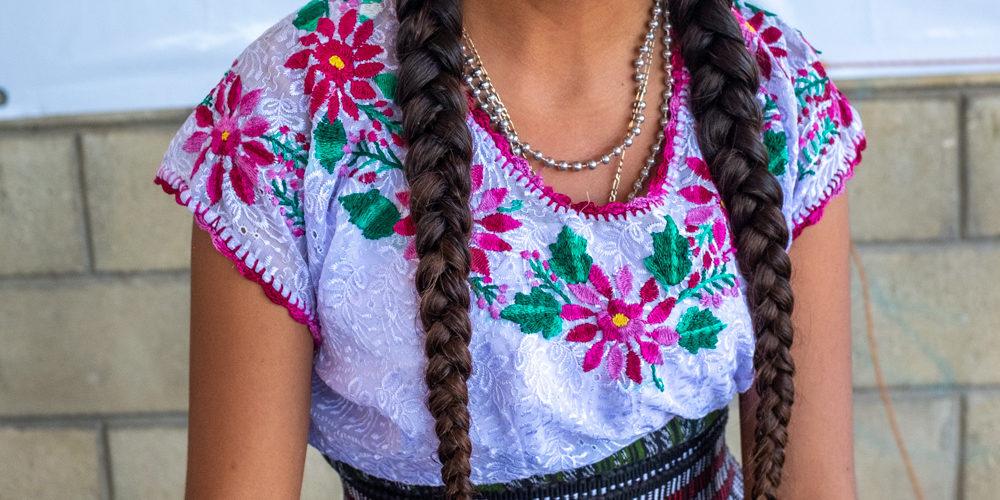 La estudiante de secundaria Nicolasa Aidali López Silvestre, participa en el Festival de la Memoria Histórica. Nueva Libertad (El Colorado) 2020